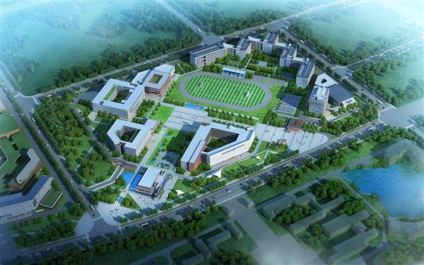 新校区平面效果总图-株洲市职工大学 新校区建设专题